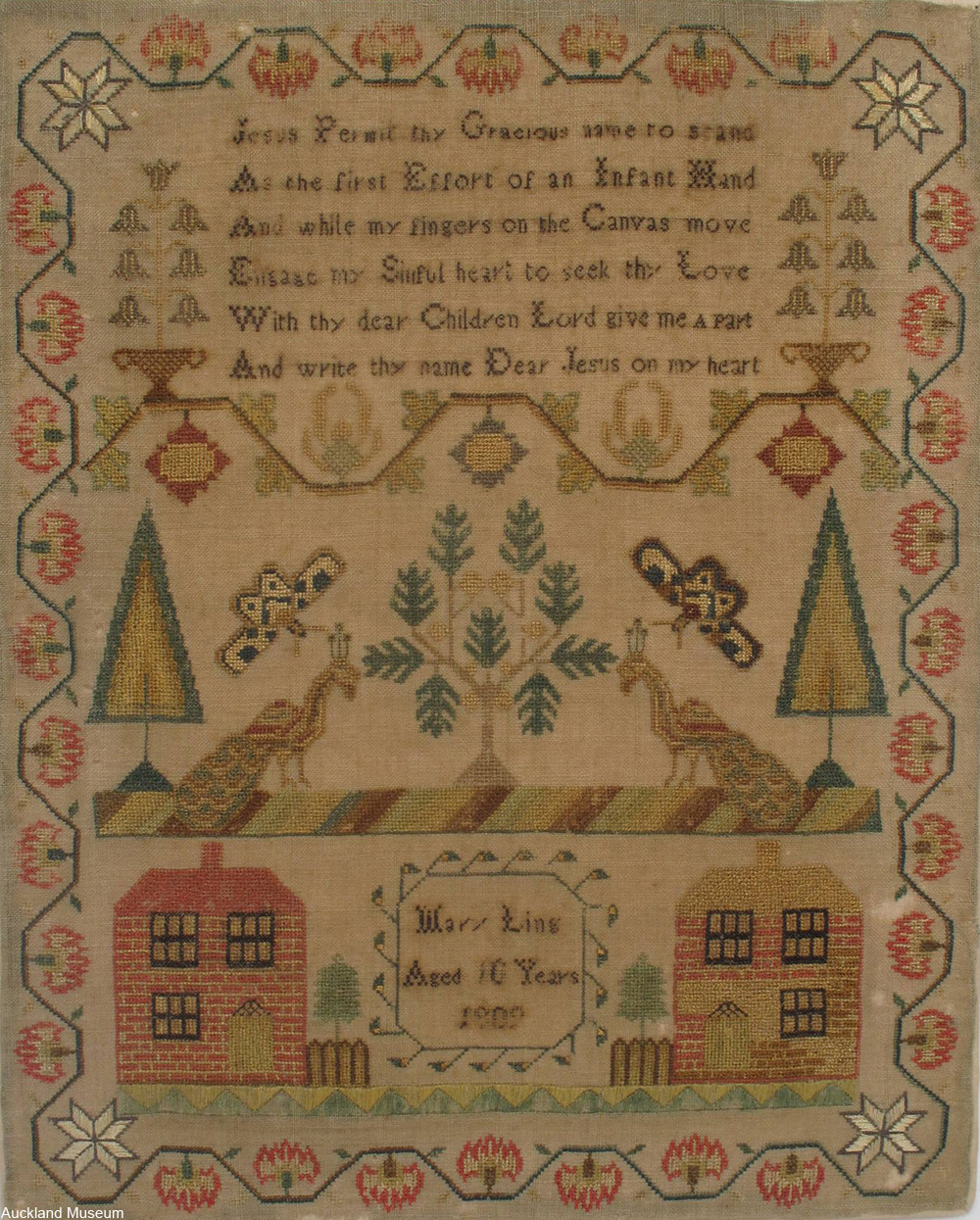 early 1800s embroidery sampler
