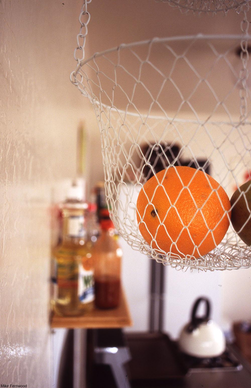 hanging metal fruit basket