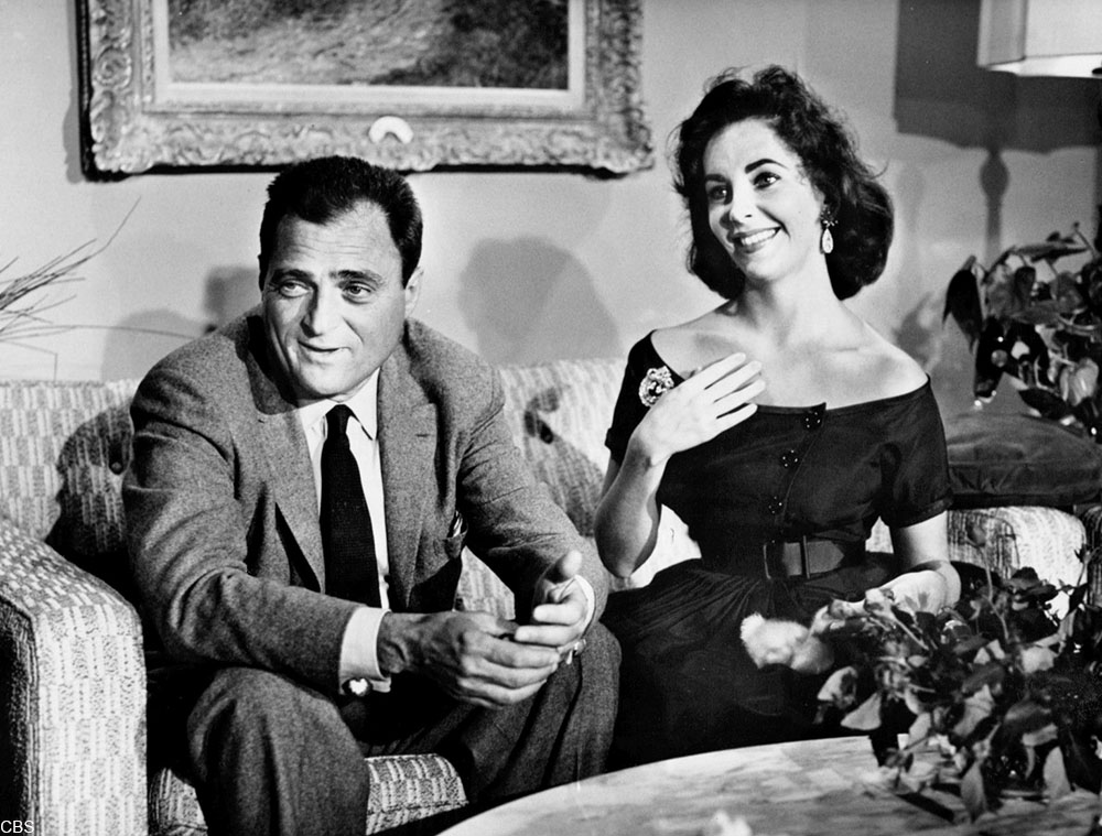 Elizabeth Taylor and her third husband, Mike Todd