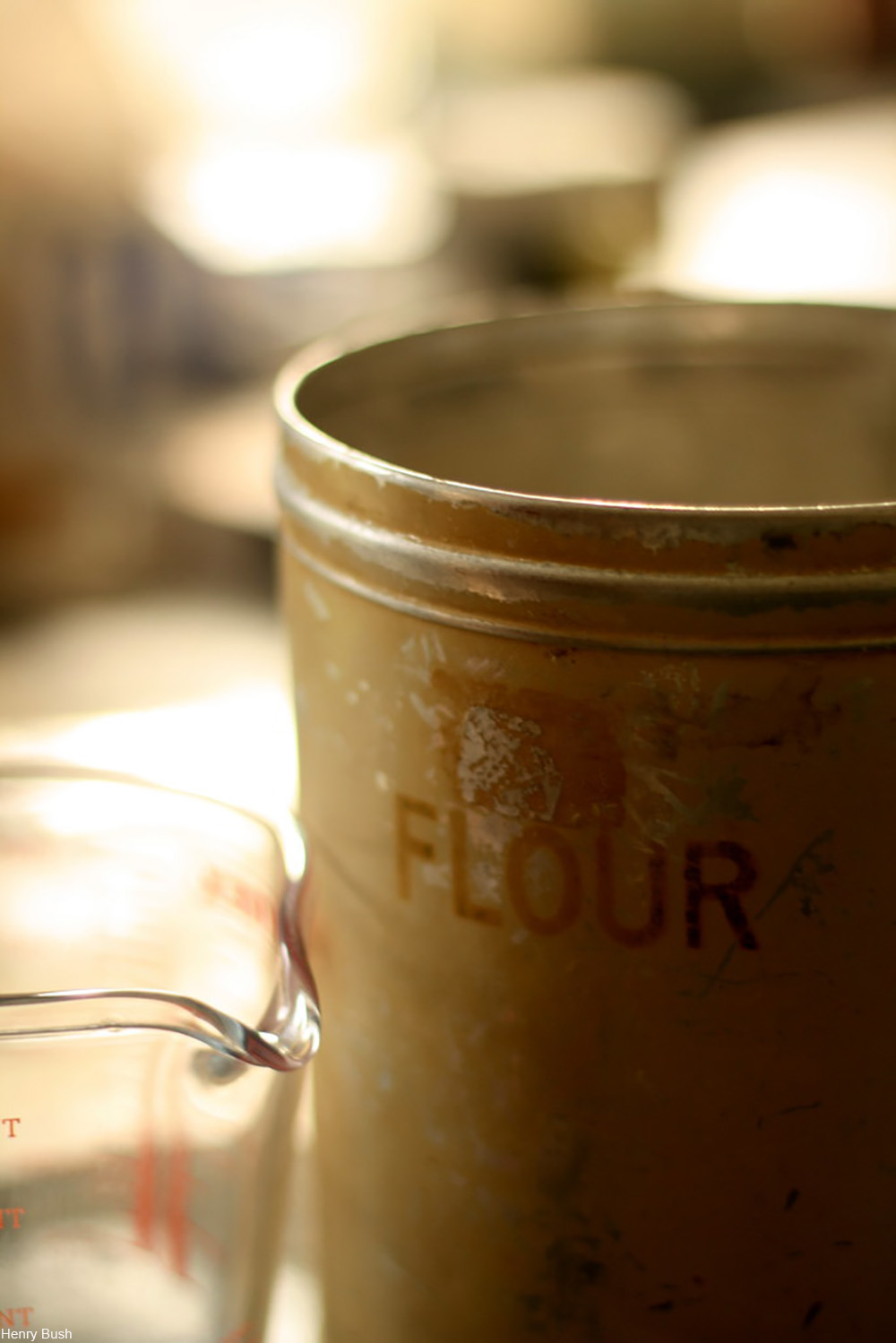 old fashioned flour canister