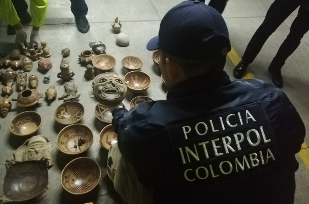 pre-Columbian objects seized in international smuggling sting