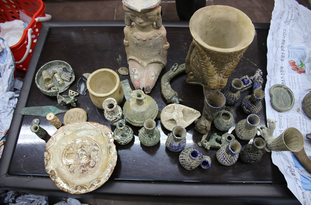 recovered cultural artifacts from Kabul, Afghanistan