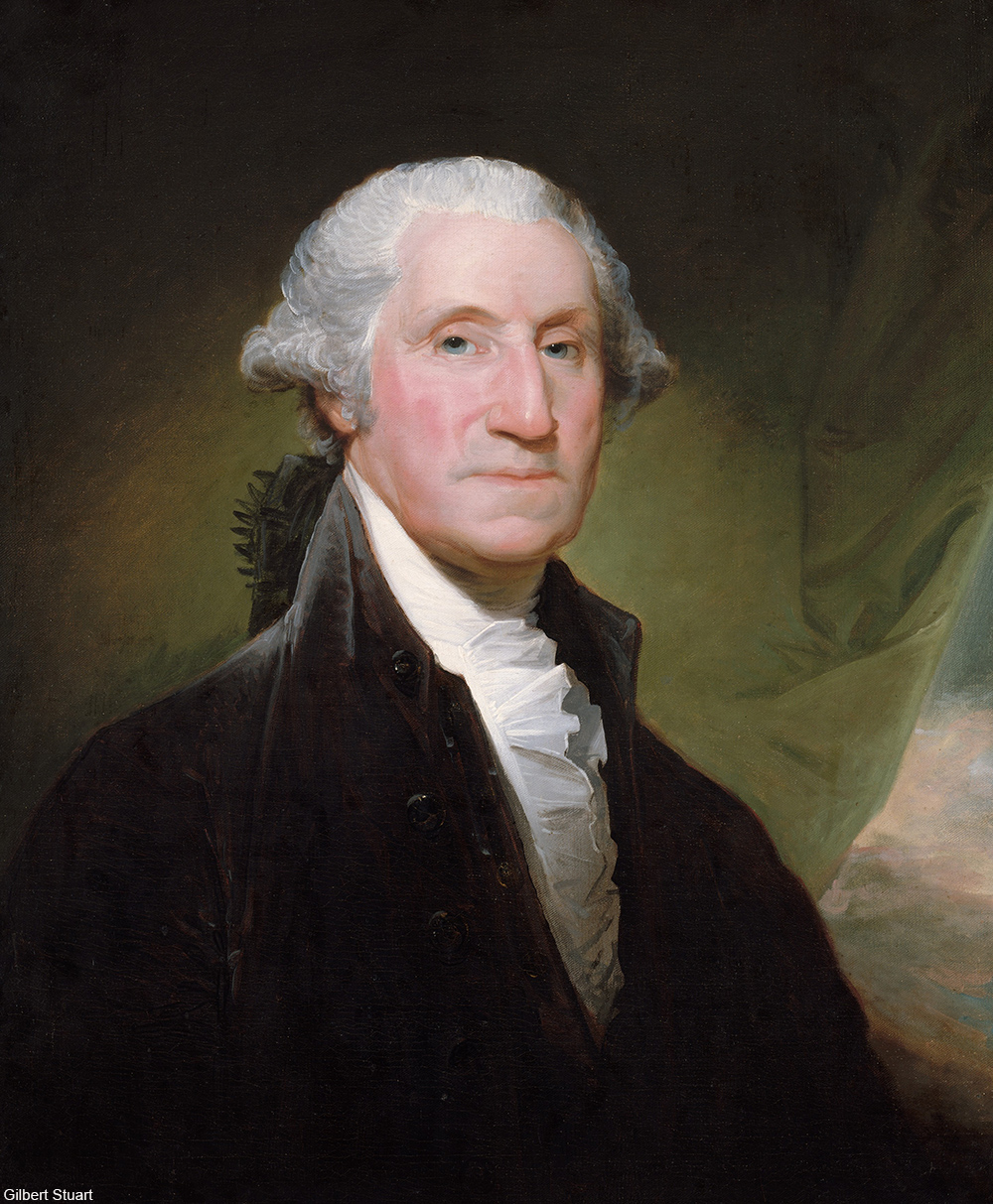 1795 painting of George Washington by Gilbert Stuart