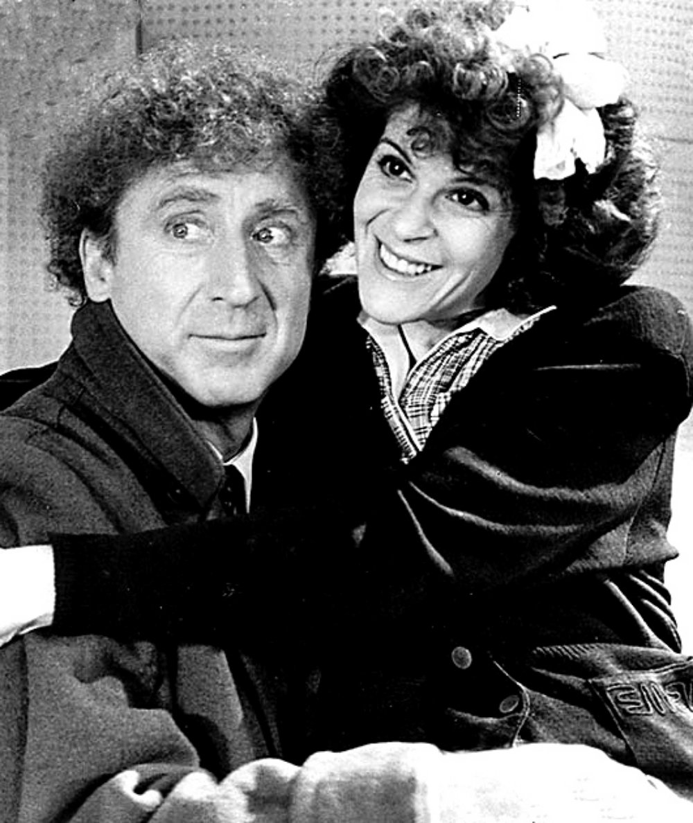 publicity photo of Gene Wilder and Gilda Radner for the film, Haunted Honeymoon