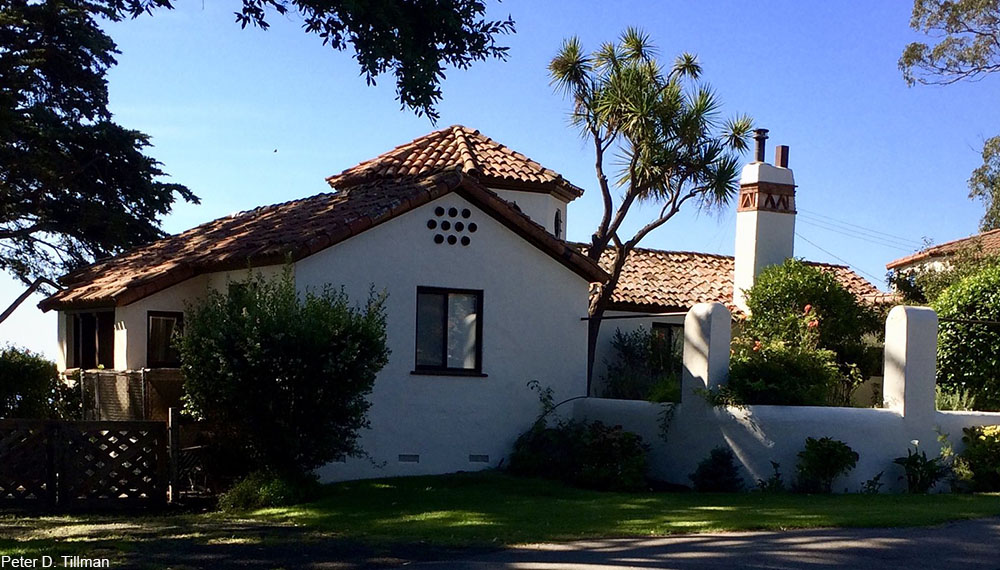 Spanish style house built in the 1920s or 1930s