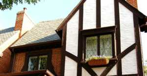 Tudor revival 1920s house