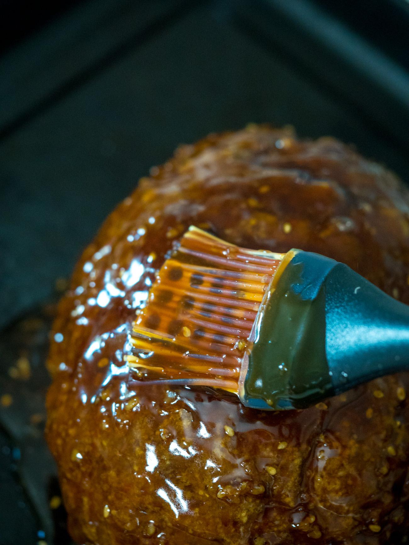 making Korean BBQ Meatloaf