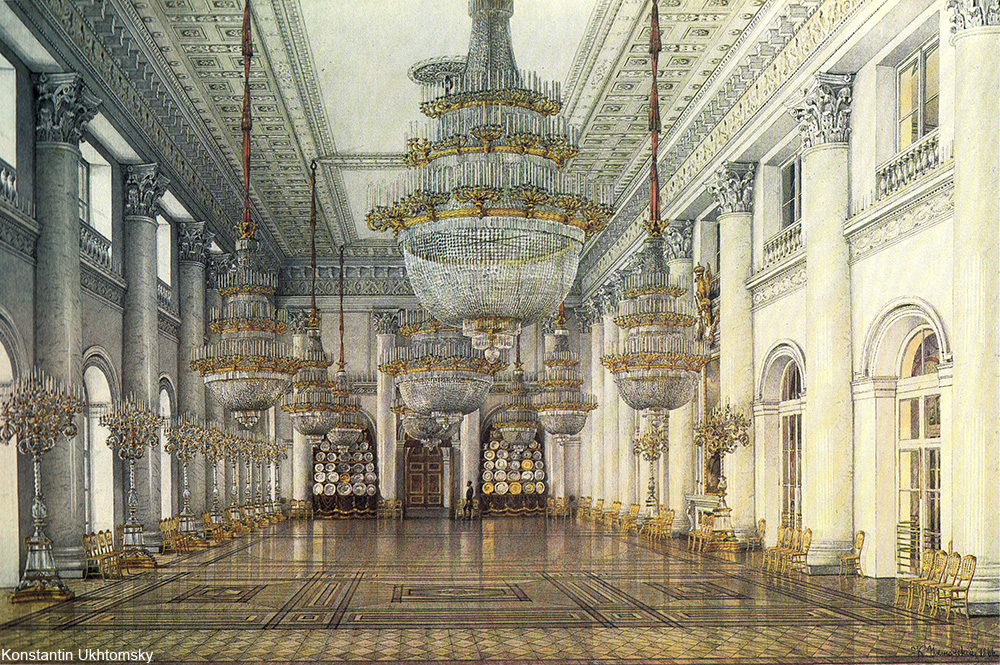 Nicholas Hall of the Winter Palace in St. Petersburg