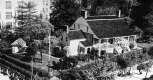 Dyckman Farmhouse surrounded by NYC in the 1960s