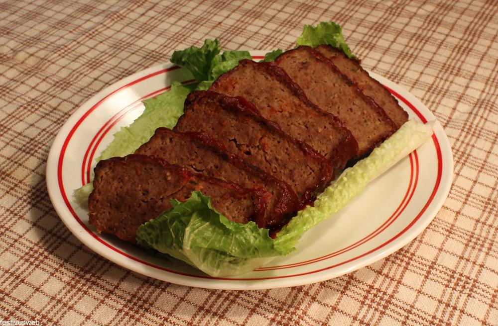meatloaf on a bed of lettuce