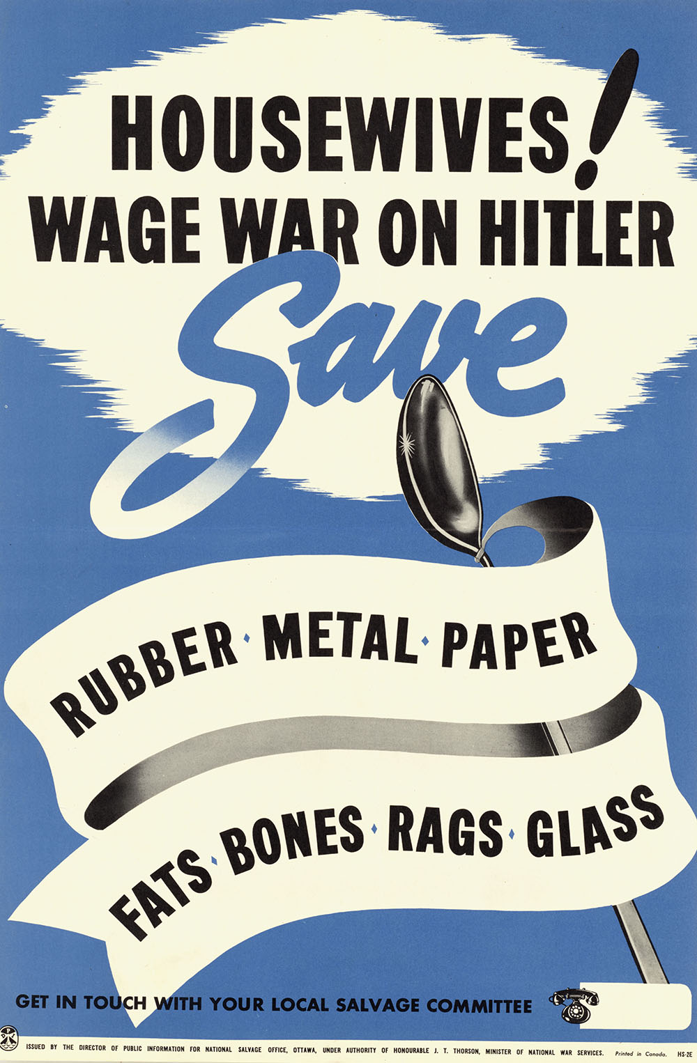 wwii salvaging poster