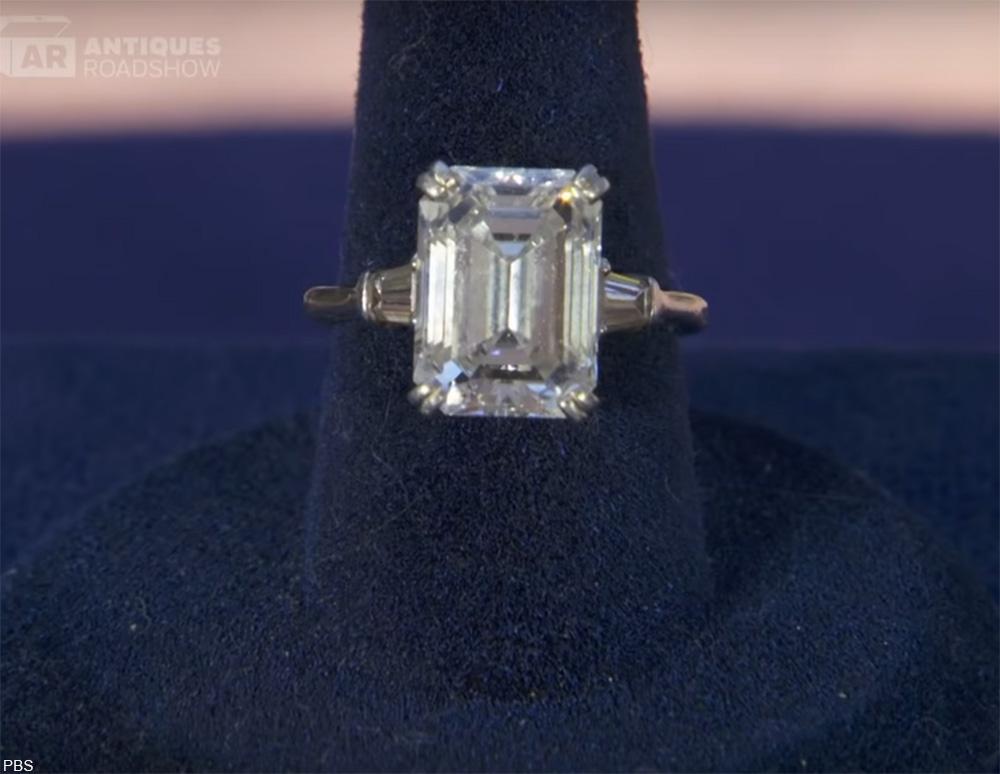massive diamond ring on Antiques Roadshow