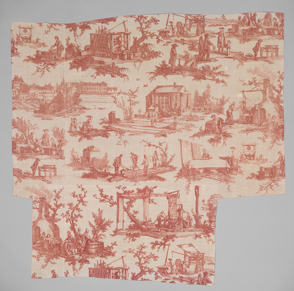 toile fabric designed by Jean-Baptiste Huet for the Oberkampf Manufactory