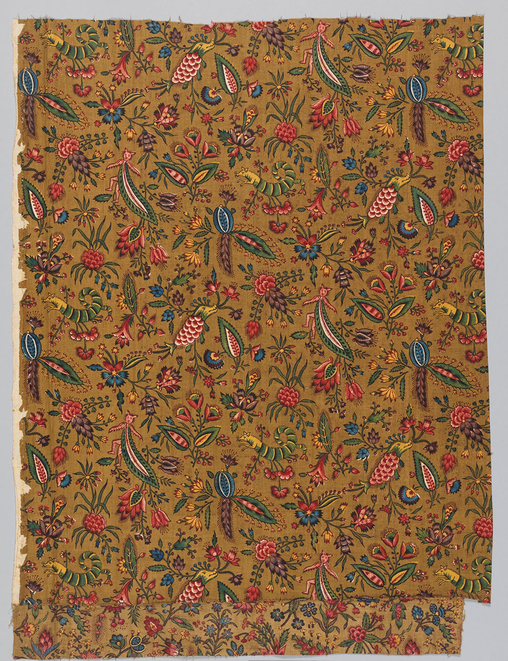 French 18th century fabric that mimicked Indian designs