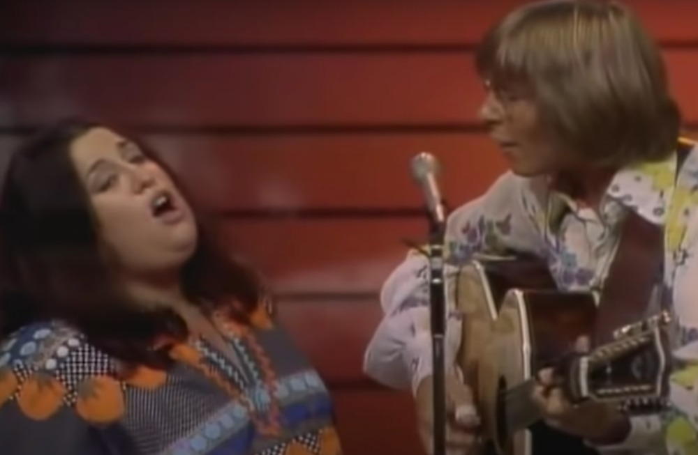 Mama Cass and John Denver singing together