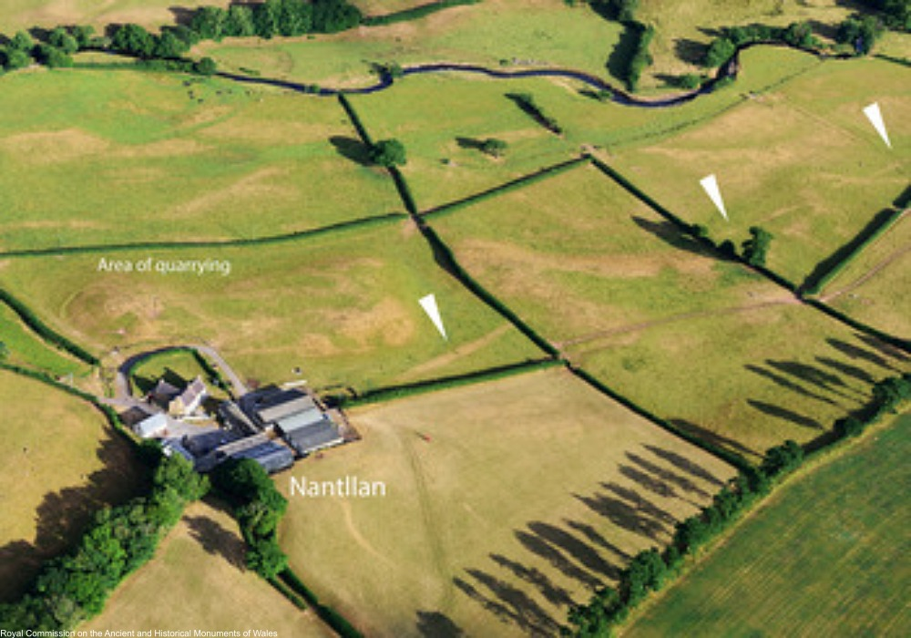 aerial photos showing ancient Roman road