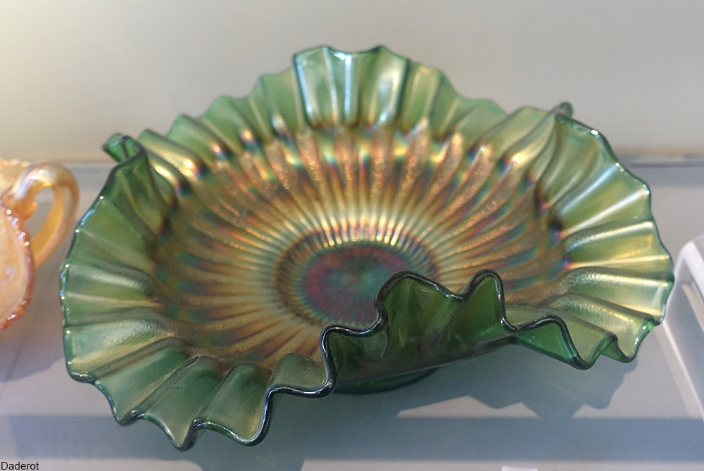 early 20th ruffled carnival glass
