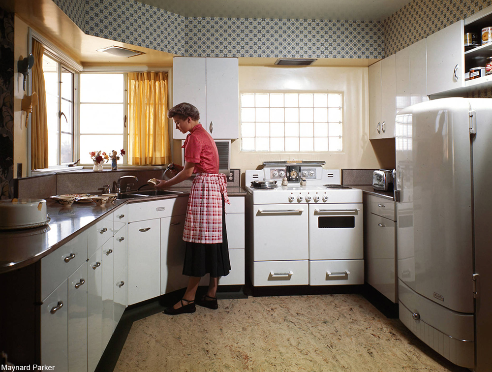 housewife in her kitchen 1949