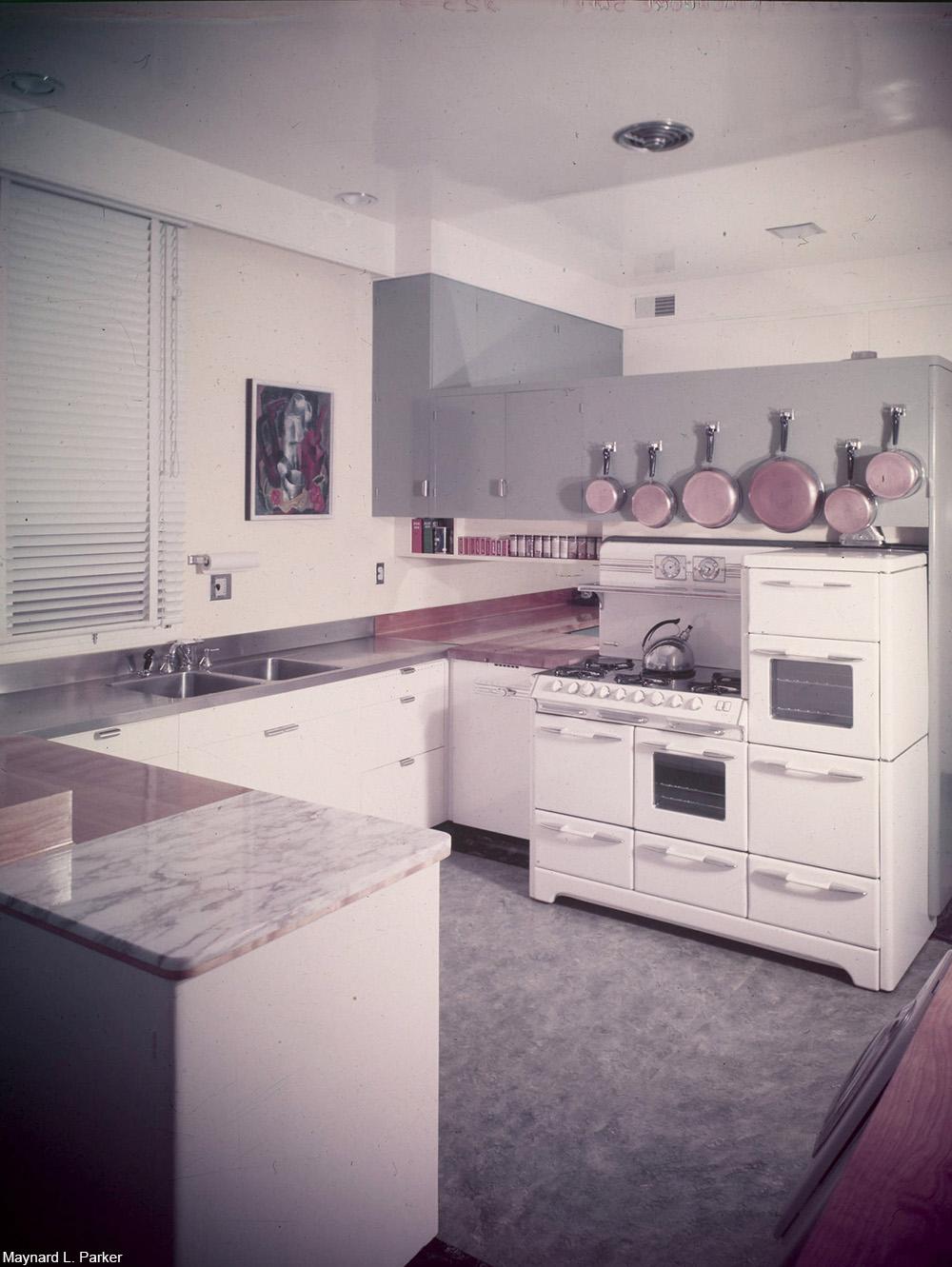 post-war American kitchen