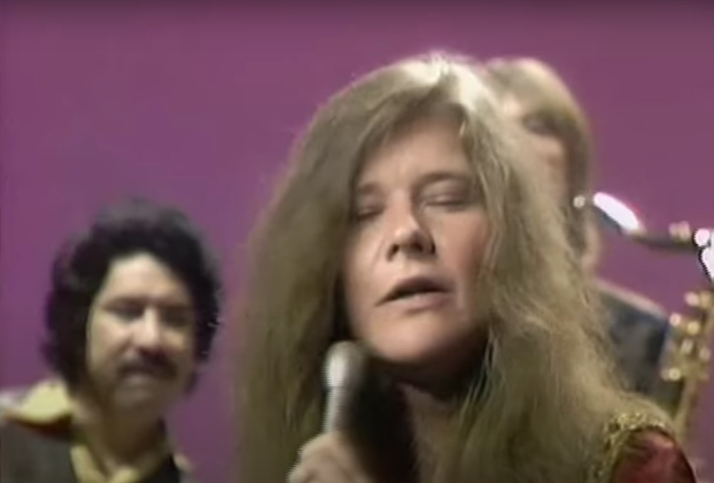 Janis Joplin performing on The Dick Cavett Show in 1969