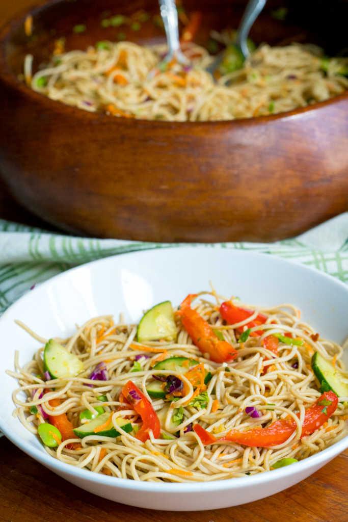 Soba Noodle Rainbow Salad