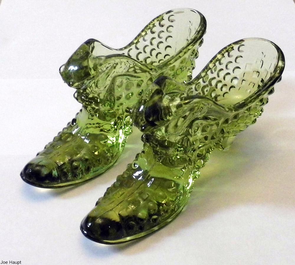 vintage glass shoes