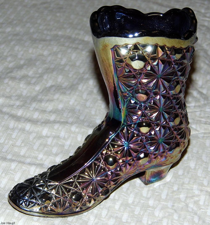 carnival glass boot