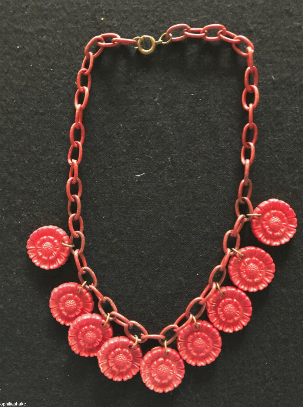 vintage celluloid plastic necklace