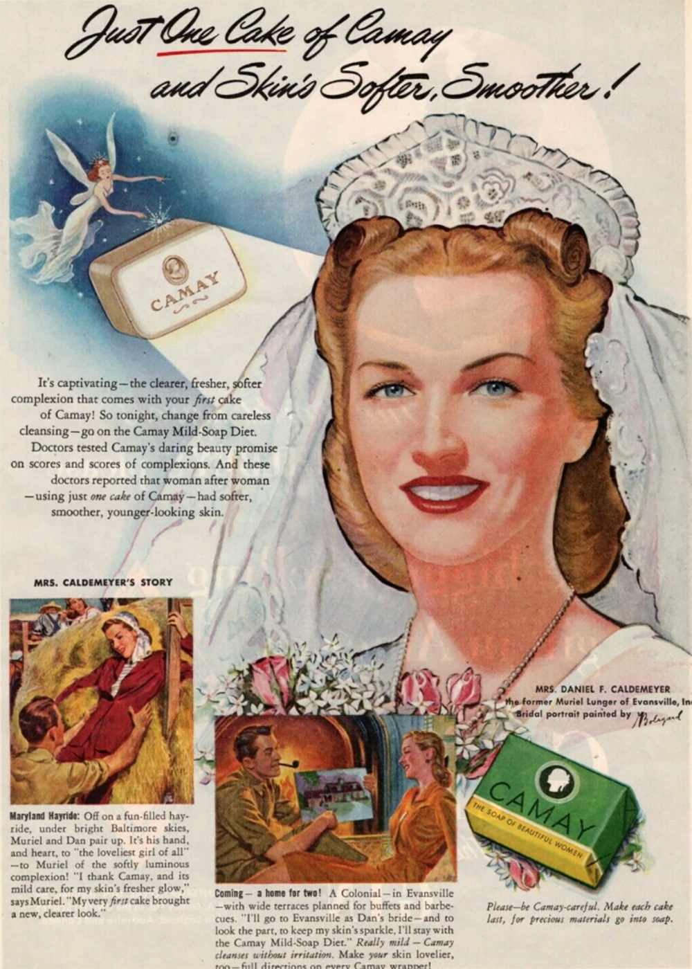 Camay soap ad from the 1940s