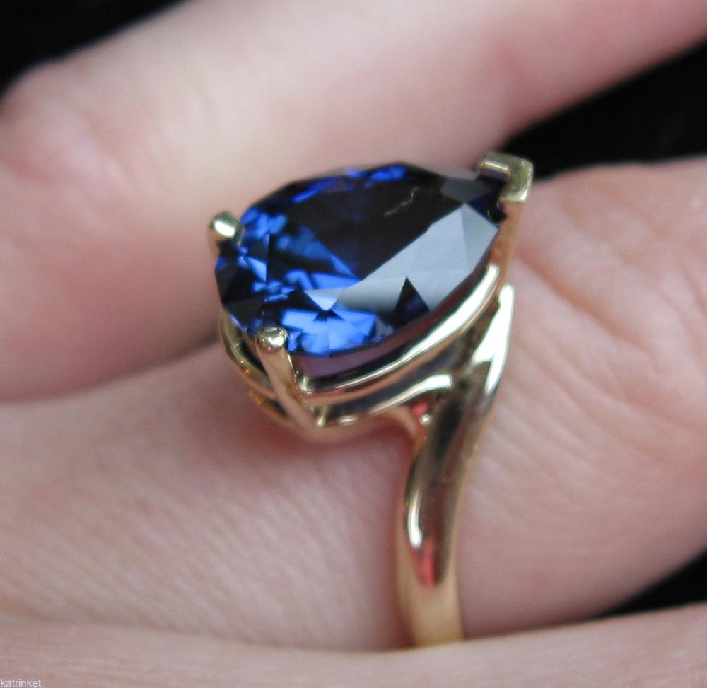 sapphire pear cut ring