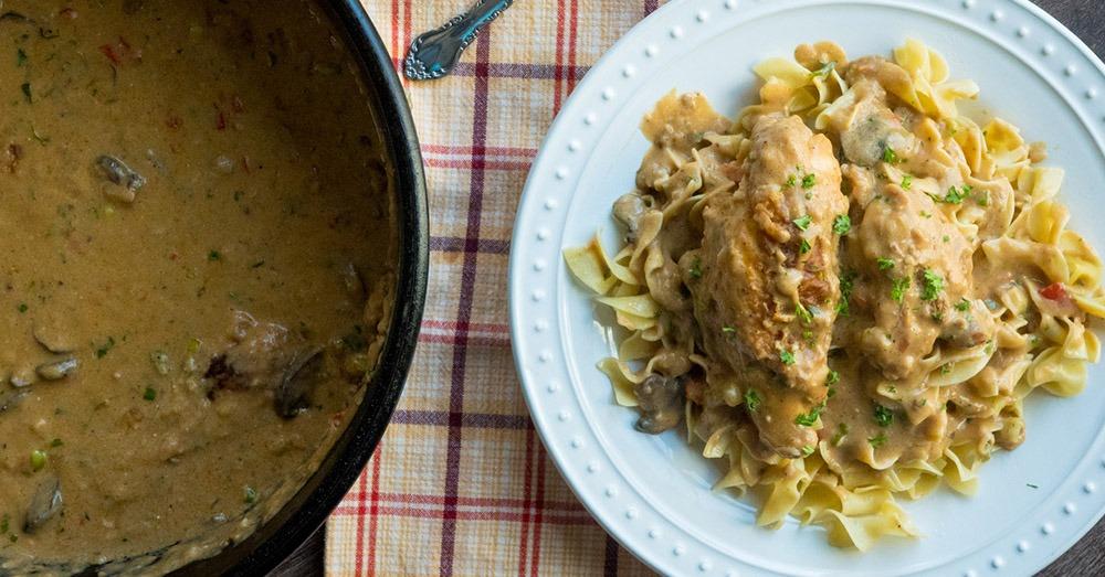 Serve over rice, potatoes, or egg noodles.