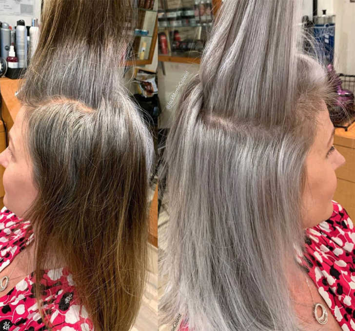 Hairstylist Shares Gorgeous Photos Of People Embracing Their Gray Hair 12 Tomatoes
