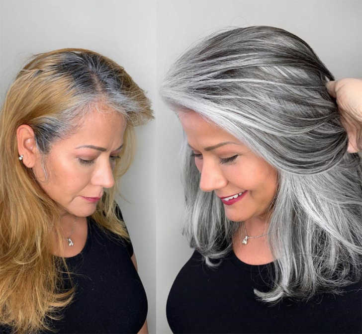 Hairstylist Shares Gorgeous Photos Of People Embracing Their Gray Hair | 12  Tomatoes
