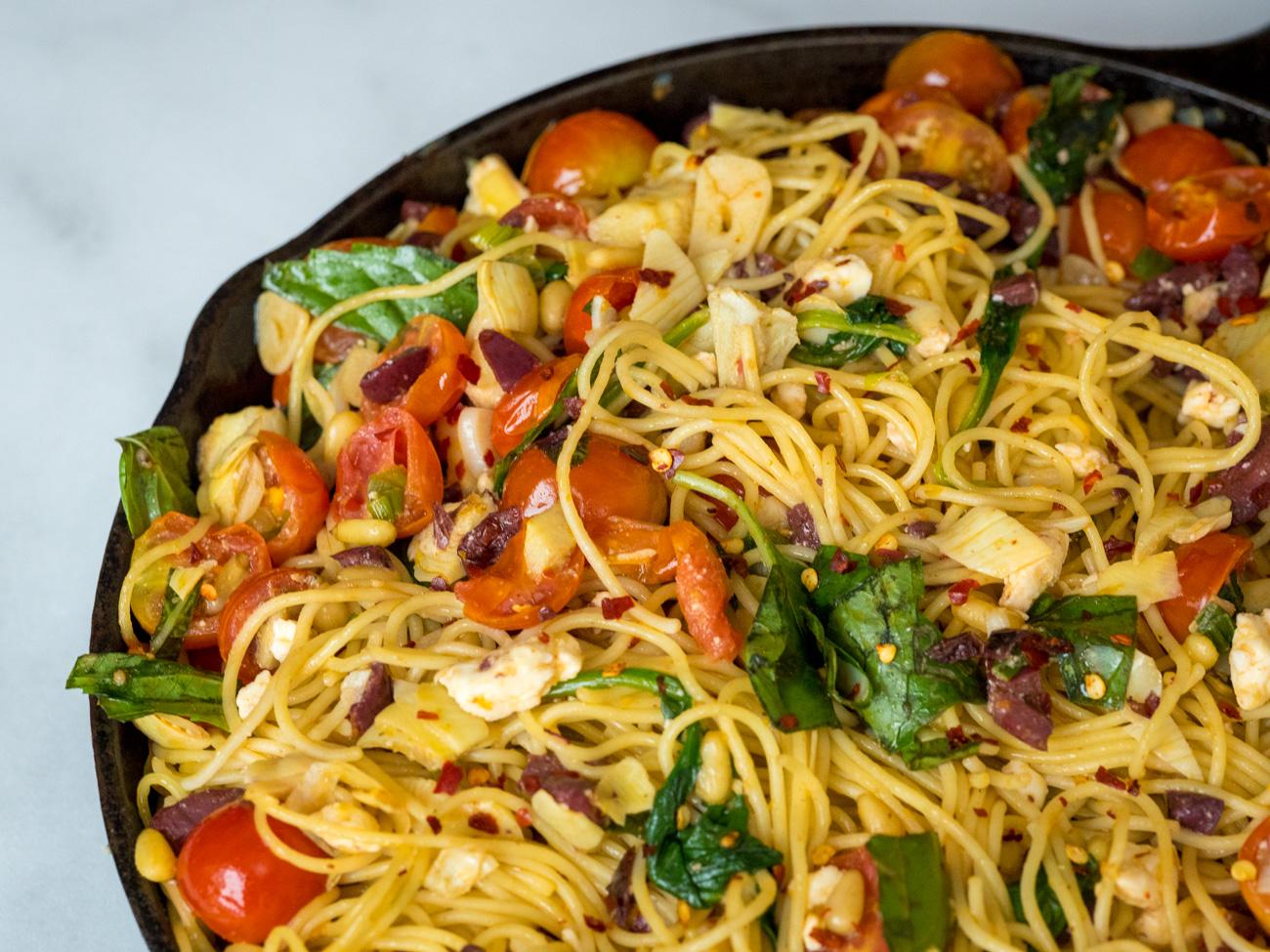 Olive Oil Mediterranean Pasta