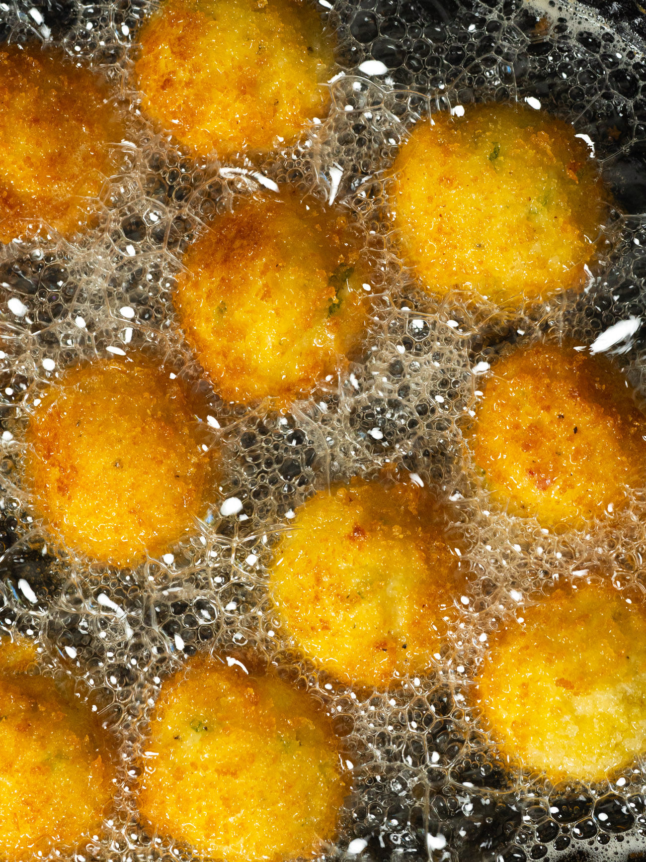 Grit Fritters With Ham