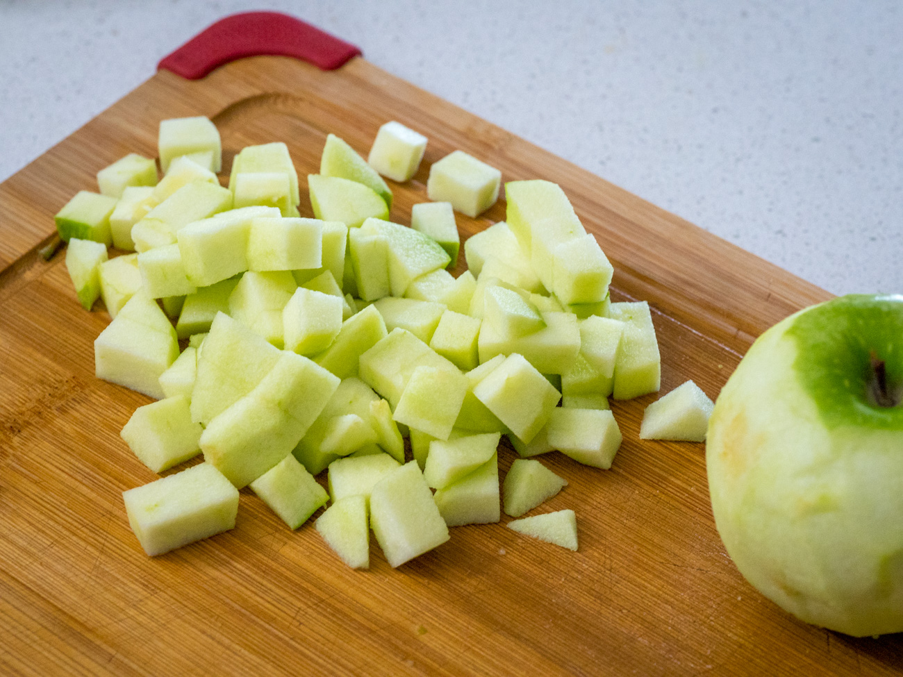 chopped and peeled Granny Smith apples