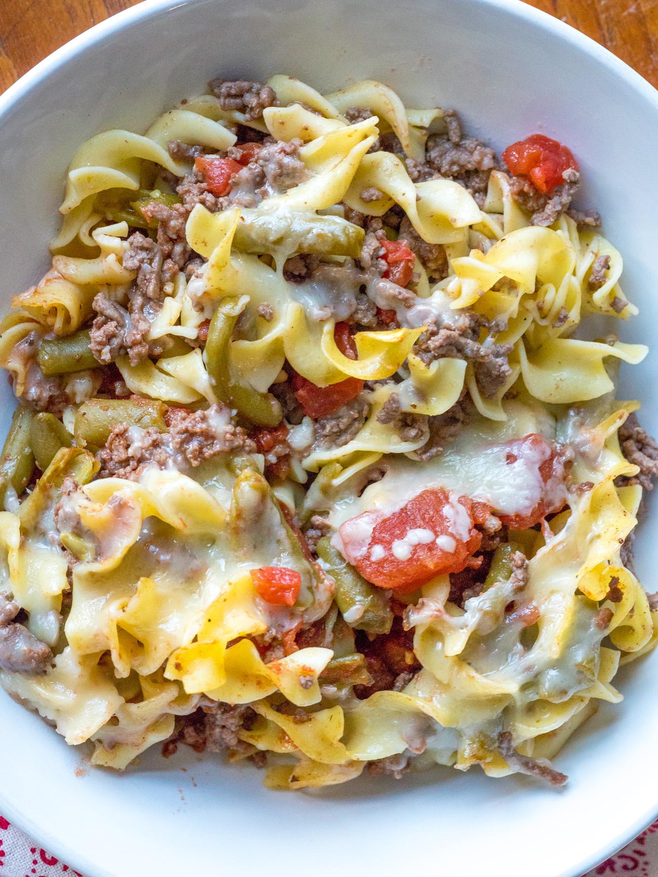 Beefy Egg Noodle Casserole