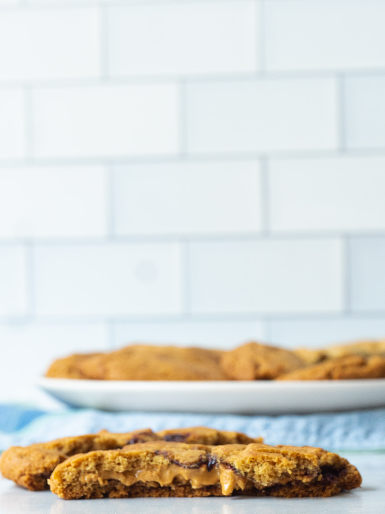 Peanut & Jelly Butter Stuffed Cookies