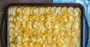 Sheet Pan Scalloped Potatoes