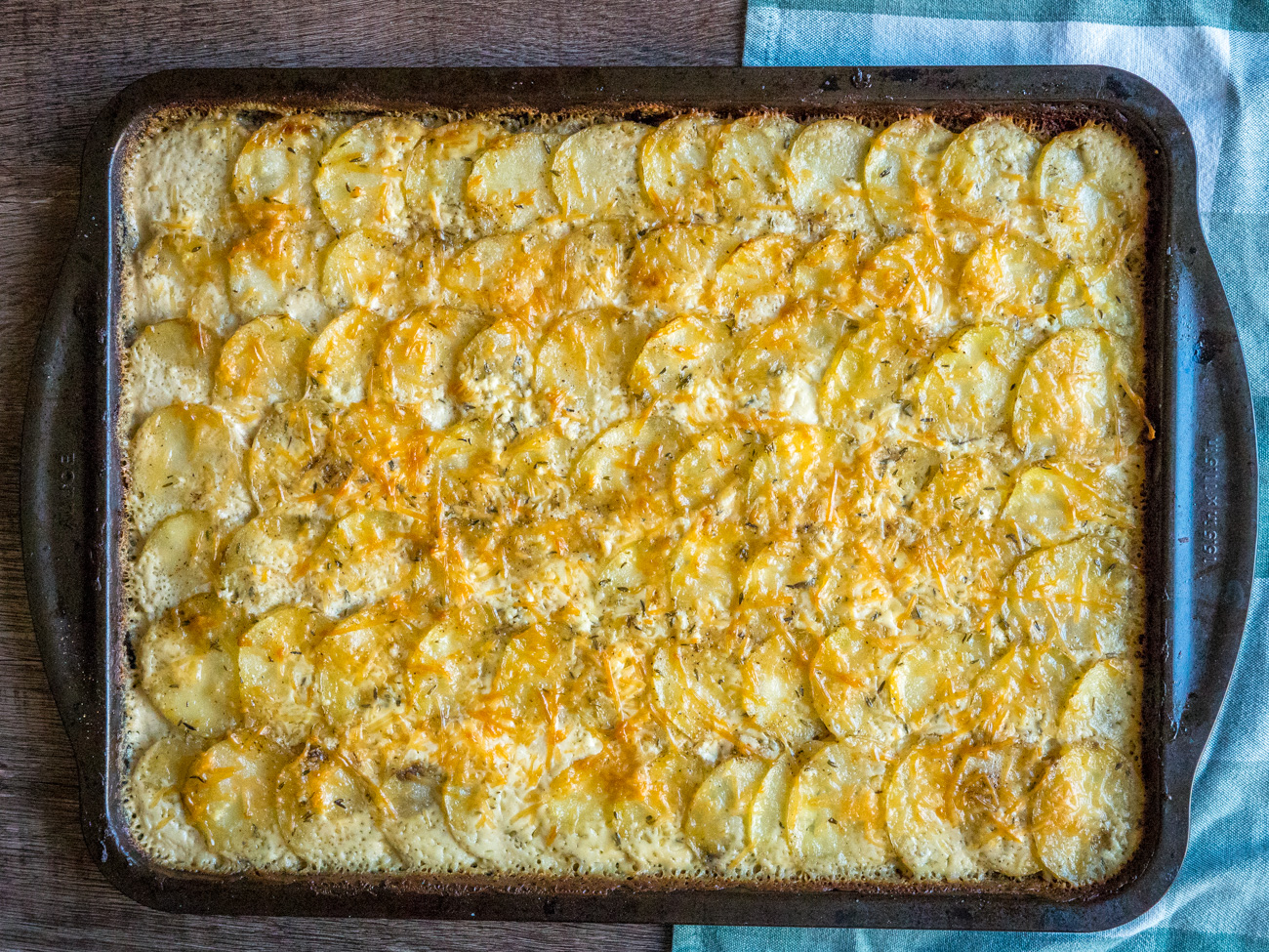 Cover with foil and bake for 20 minutes or until potatoes are fork tender. Remove from oven and remove foil. Top with the rest of the cheeses and bake uncovered an additional 15-22 minutes or until golden brown on top.