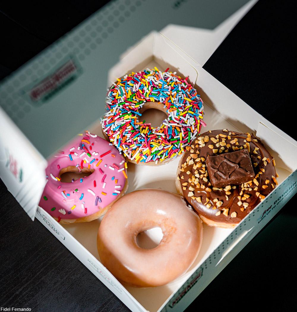 4-pack of Krispy Kreme Donuts