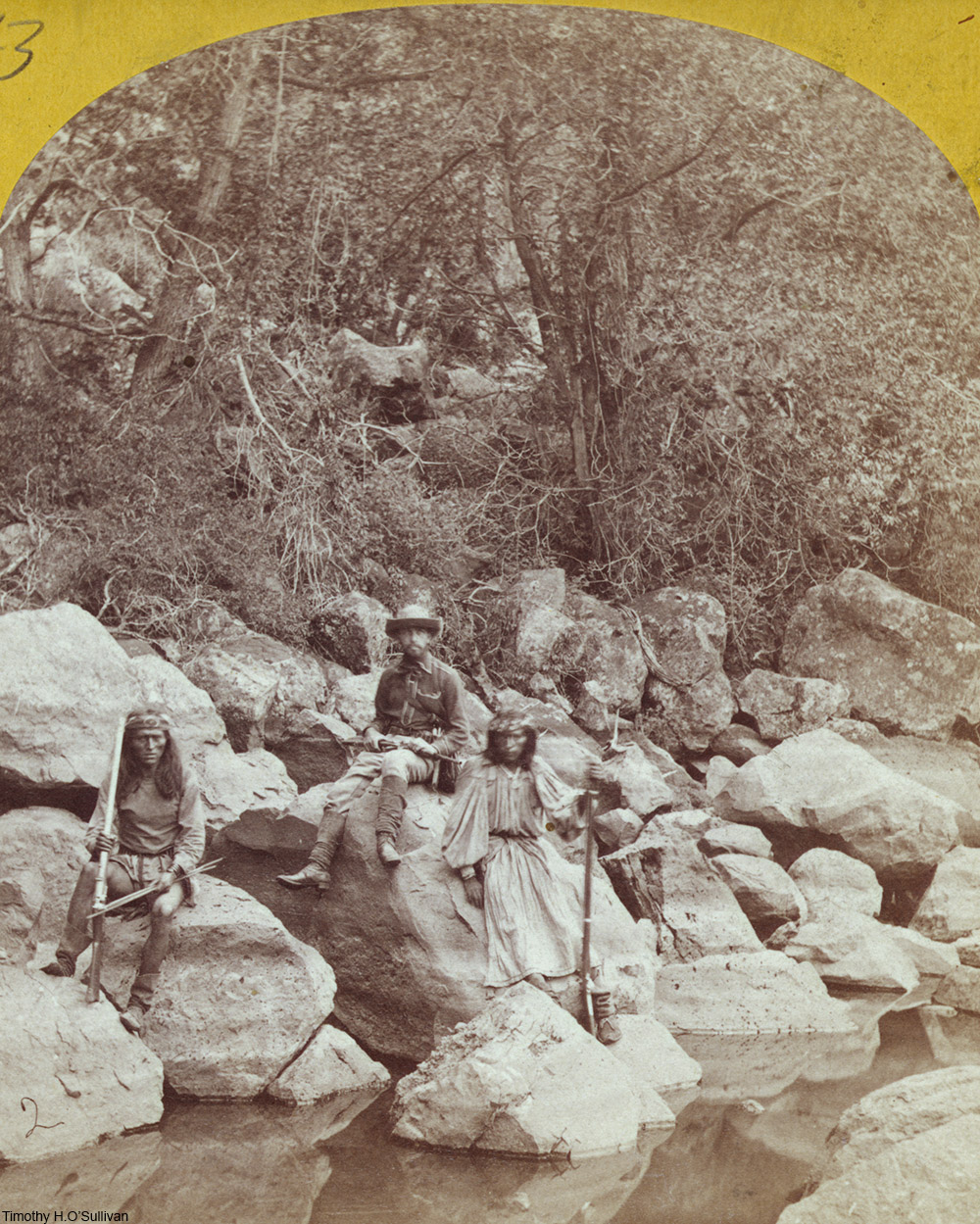 Apache scouts in New Mexico, 1873