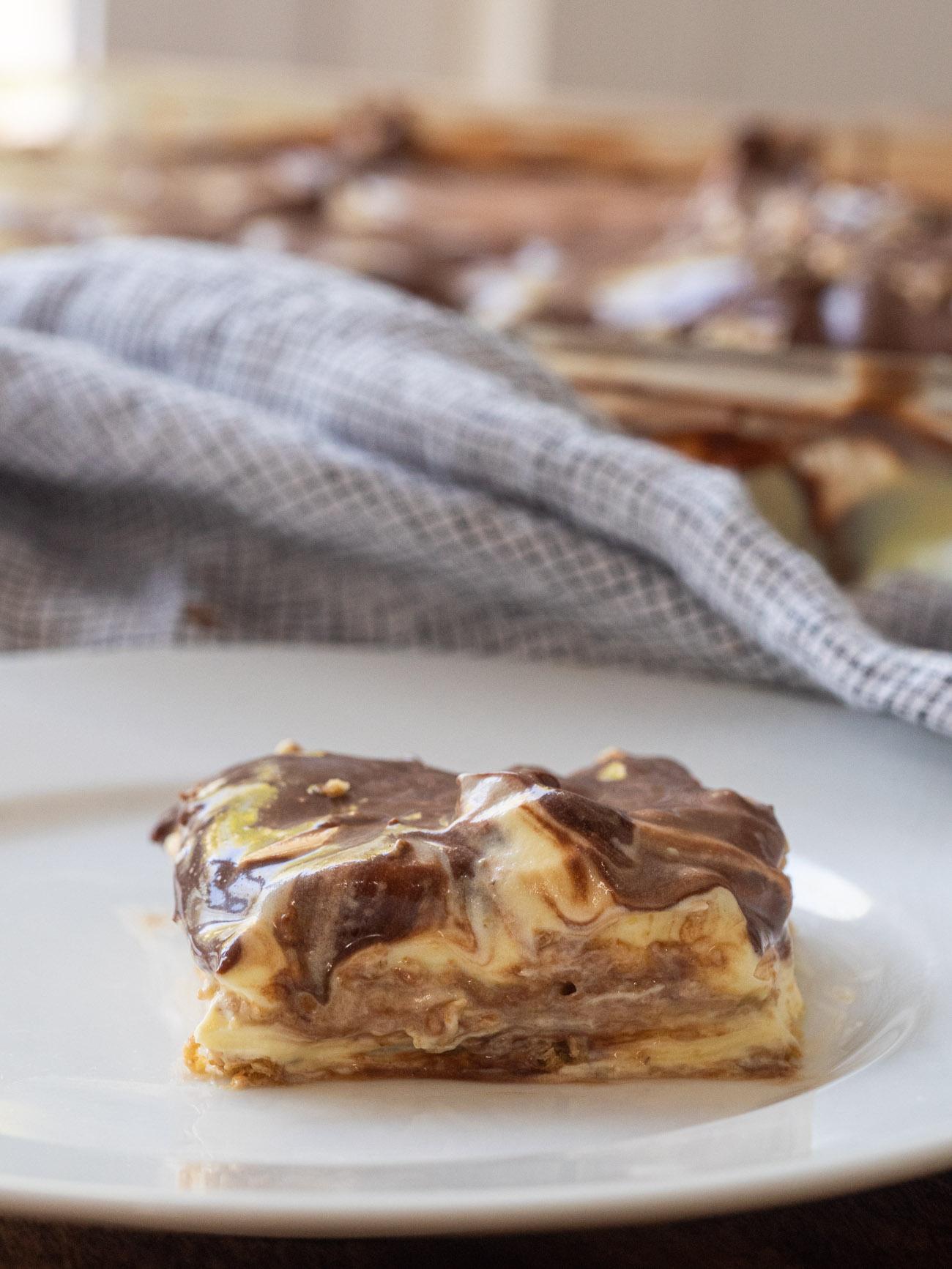 Chocolate Eclair Refrigerator Cake