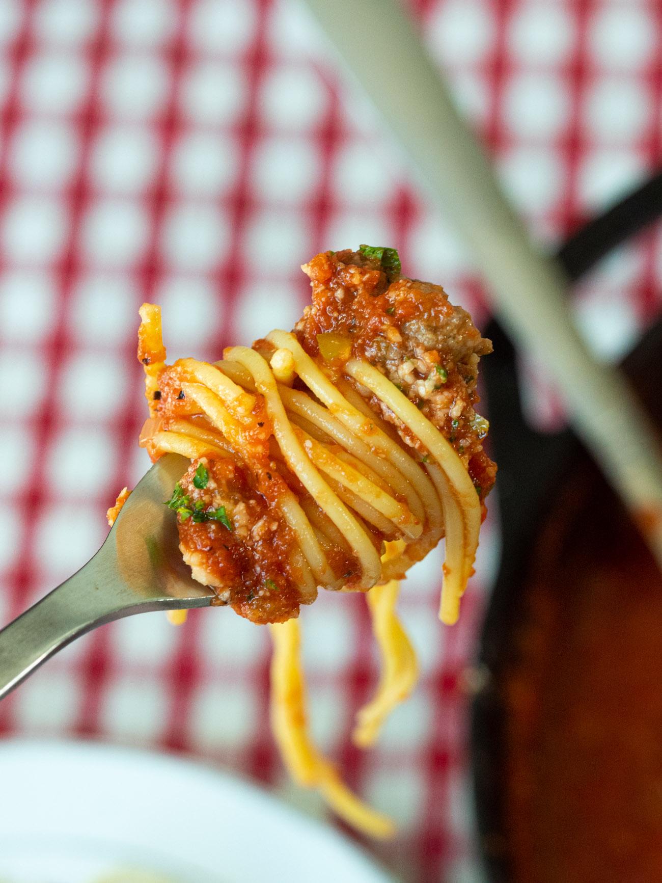 Granny's Spaghetti and Meatballs