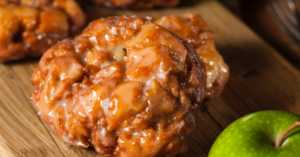 traditional apple fritters