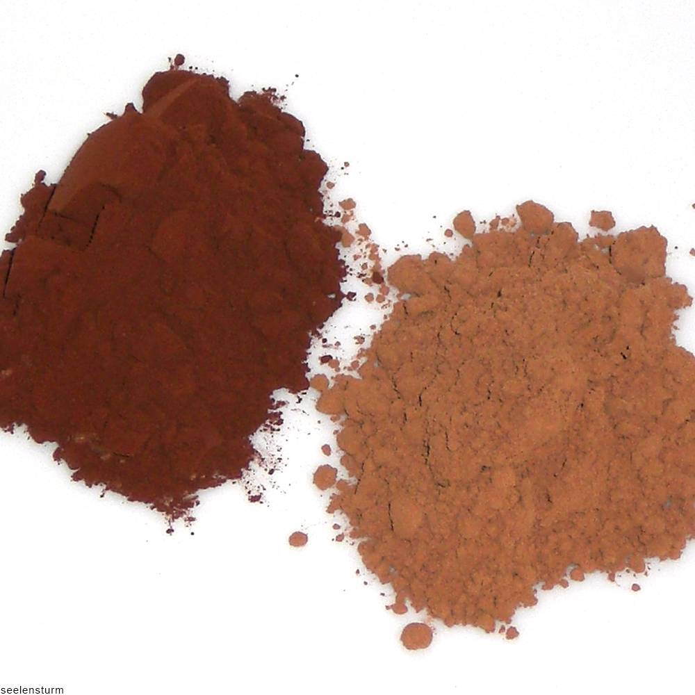 dutch cocoa powder alongside natural cocoa powder