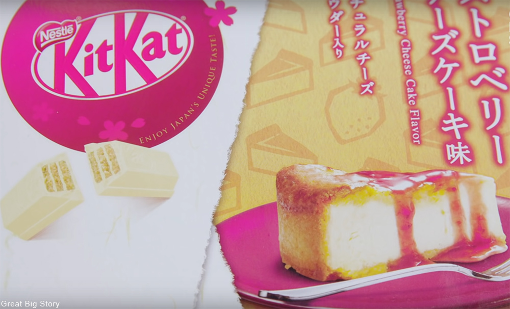 strawberry cheesecake Kit Kat flavor from Japan