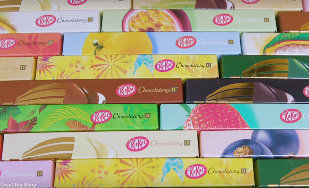 variety of Kit Kat flavors from Japan