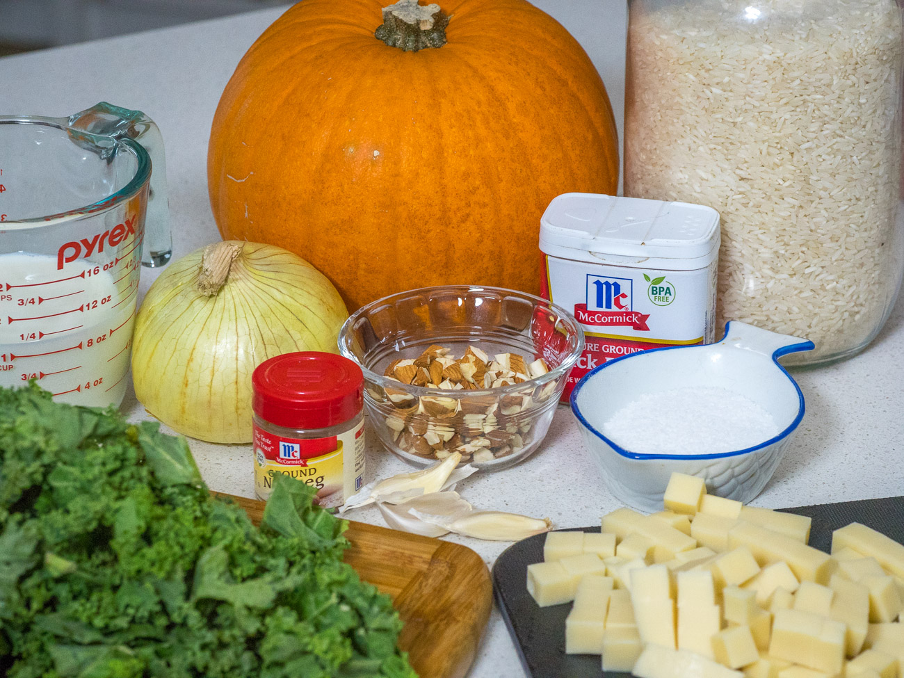 ingredients for Savory Stuffed Pumpkin