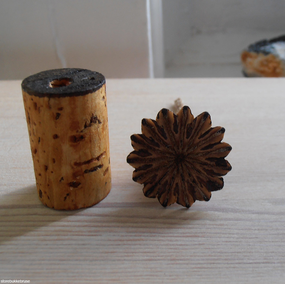stamp made from a wine cork